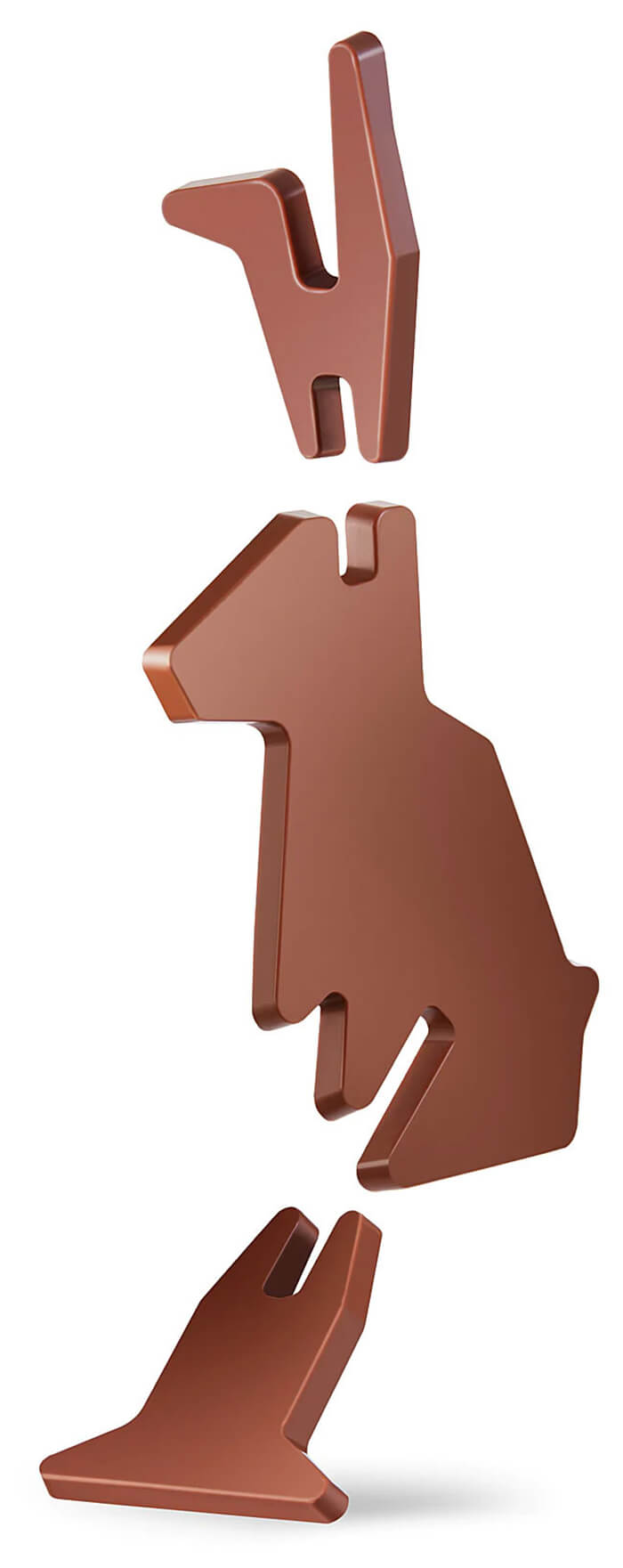 Flat-Pack Self-assembly Chocolate Bunny by IKEA