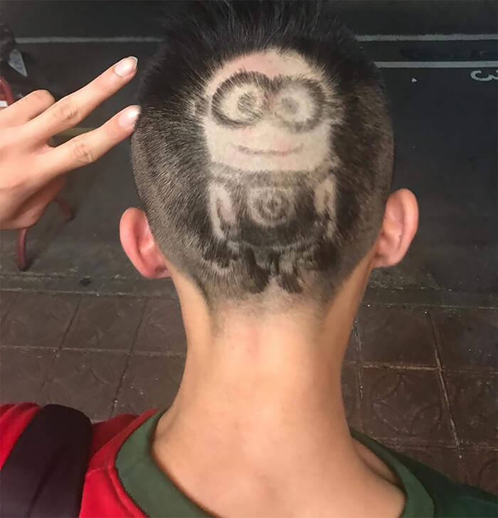 Amazing Hair Paintings by Chinese Hairdresser
