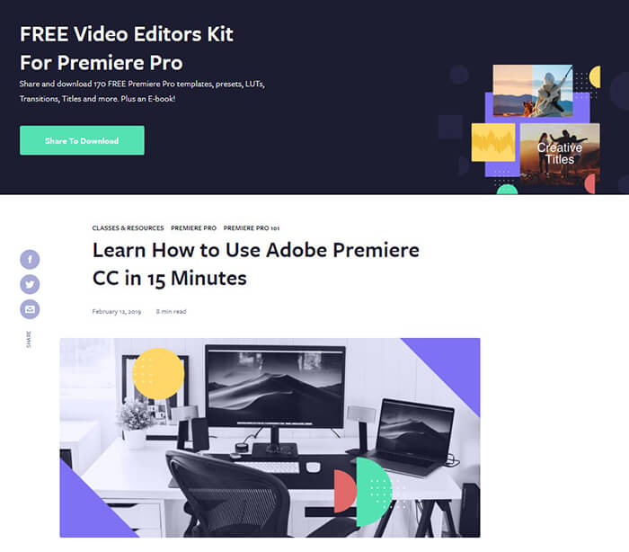 9 Adobe Premiere Pro Tutorials for Beginners