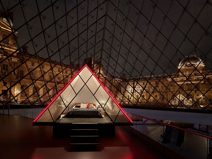 A Night In The Louvre Glass Pyramid with Airbnb For Free