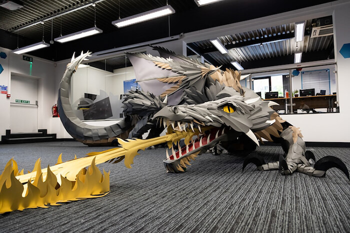 Giant Fire-Breathing Paper Dragon by Andy Singleton