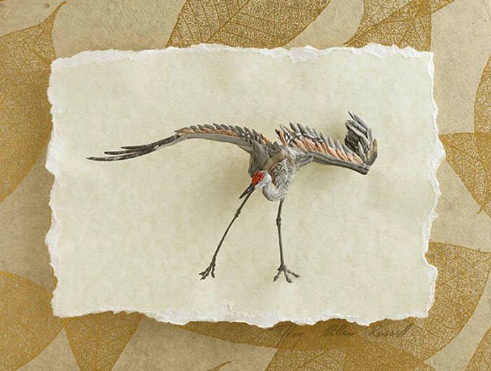Incredible Sandhill Crane Paper Sculpture by Tiffany Miller Russell