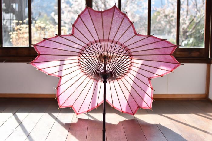 Unique Sakura-Shaped Paper Umbrella Designed for Japan's Cherry Blossom Season