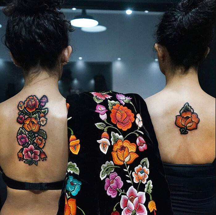 If Normal Tattoo is Not Enough for You, Try Embroidery Tattoos