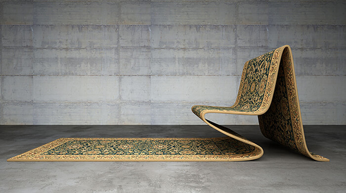 Optical Illusion? Flying Carpet Furniture