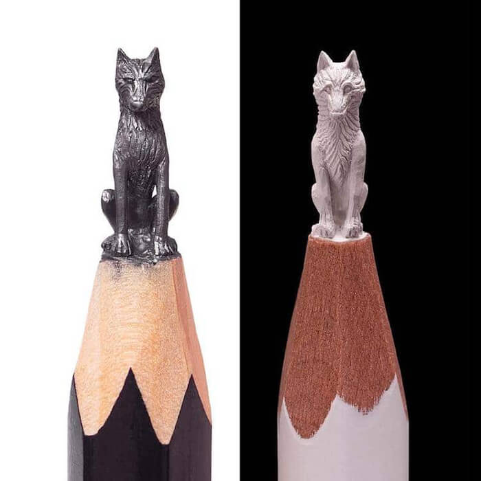 Miniature 'Game of Thrones' Sculptures on the Tips of Pencils