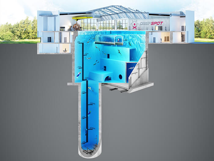 Deepspot, the World's Deepest Swimming Pool Open this Autumn