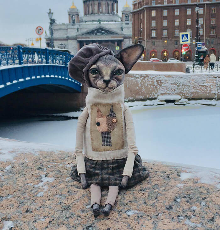 Realistic Dressed Toys by Elena Alekhina