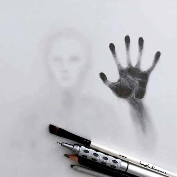 Ghostly Haunting Drawing by Willie Hsu