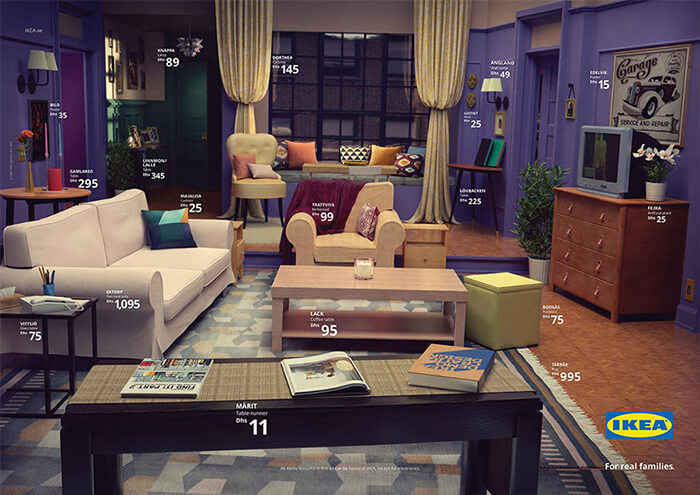 IKEA Recreated Famous Living Rooms from TV With Its Products