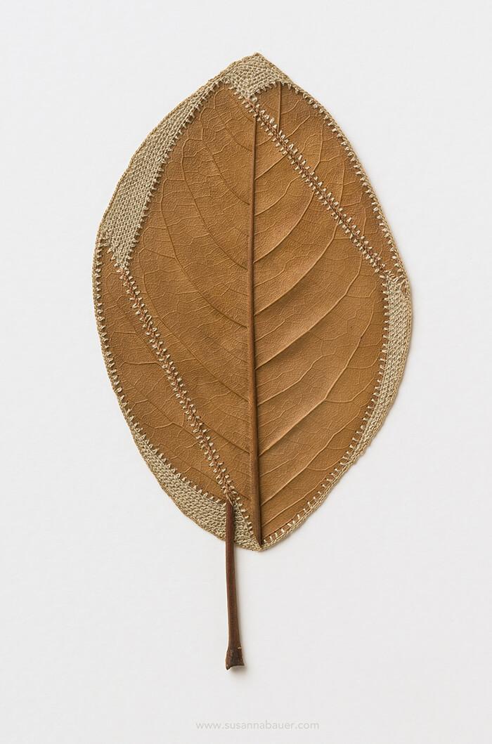 Stunning Crocheted Leaf Sculpture by Susanna Bauer