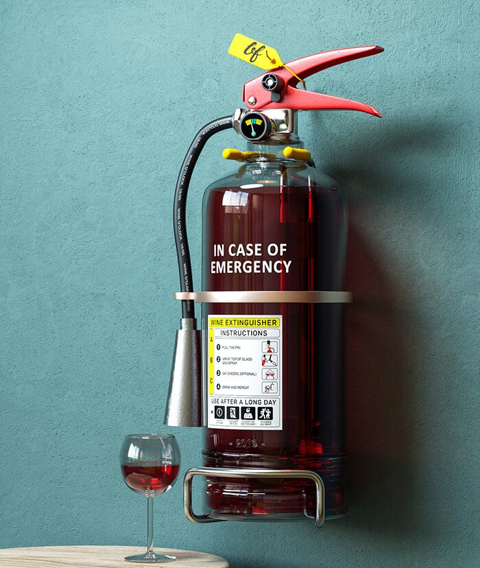 In case of emergency - wine extinguishers