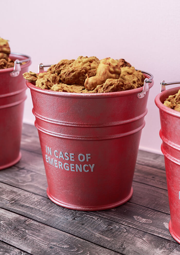 In case of emergency - chicken-bucket