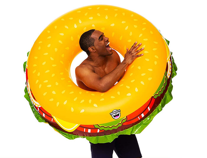 Cheeseburger Pool Float