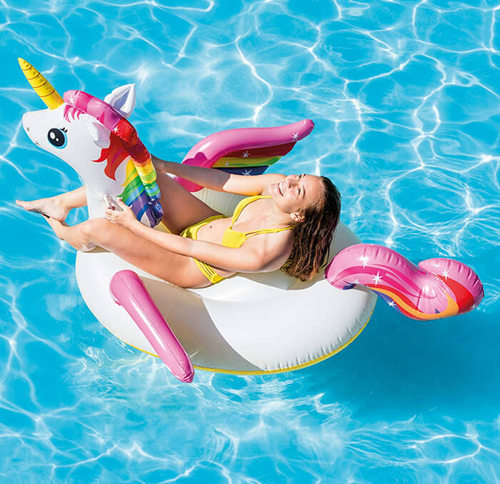 Intex Unicorn Inflatable Ride-On Pool Float