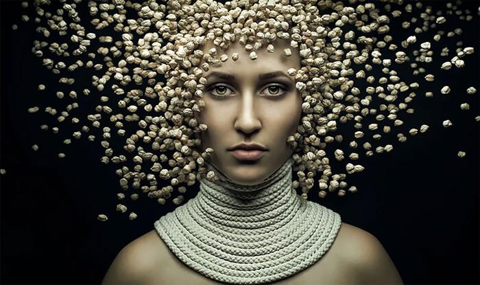Conceptual Art Portrait by Evgeni Kolesnik