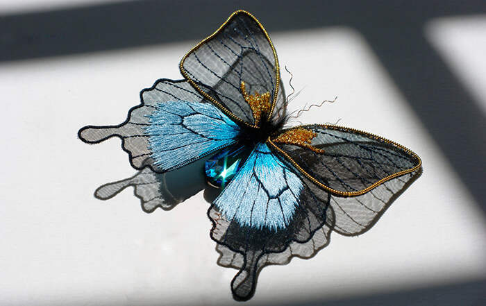 Incredible Insects and Animals Embroidery Work Made From Metals and Colorful Threads
