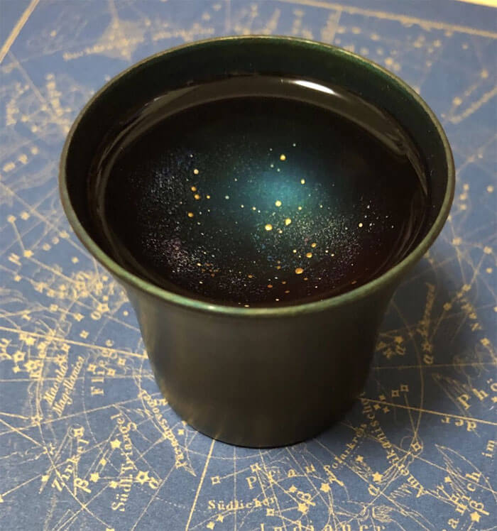 Incredible Galaxy Sake Cup by Hiromi Sato