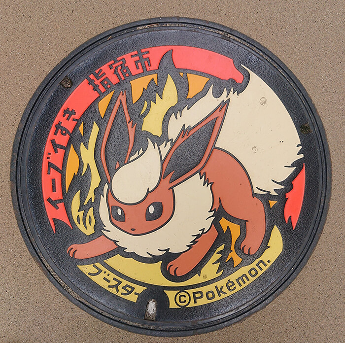 Pokémon Utility Hole Covers Installed Cross Over Japan