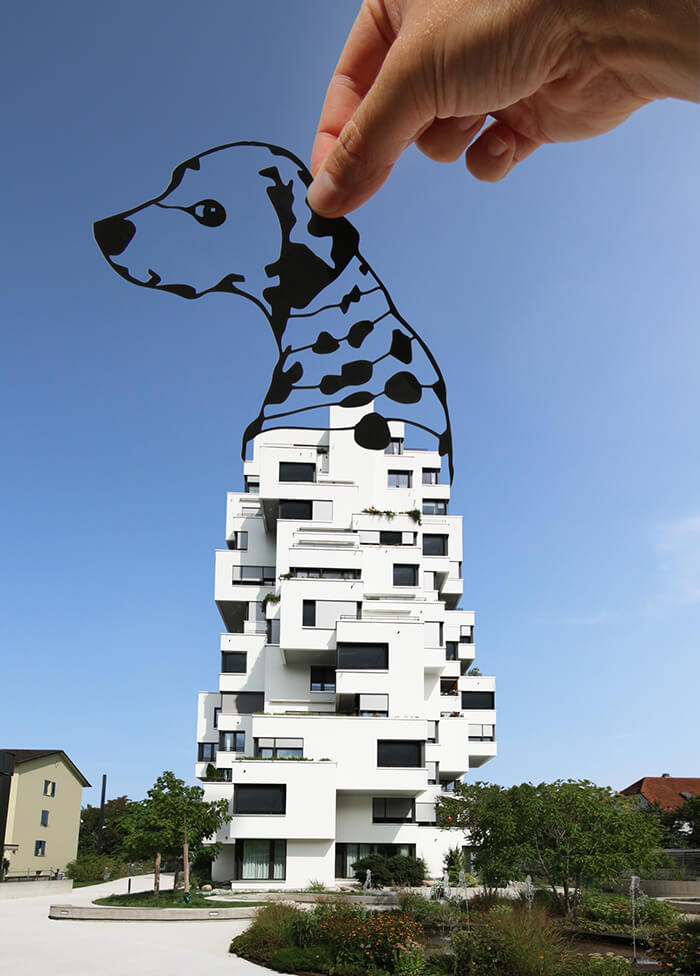 Playful Landmark Re-imagine with Paper Cut-outs