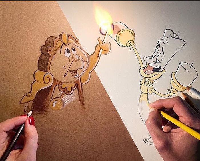 When Illustration Meets Fire
