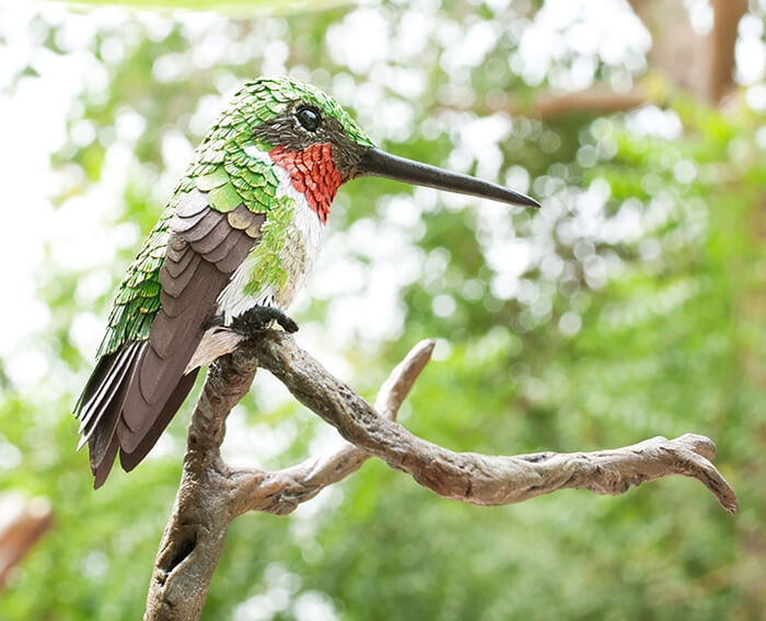 Hyper-realistic Hand-Built Paper Birds by Niharika Rajput
