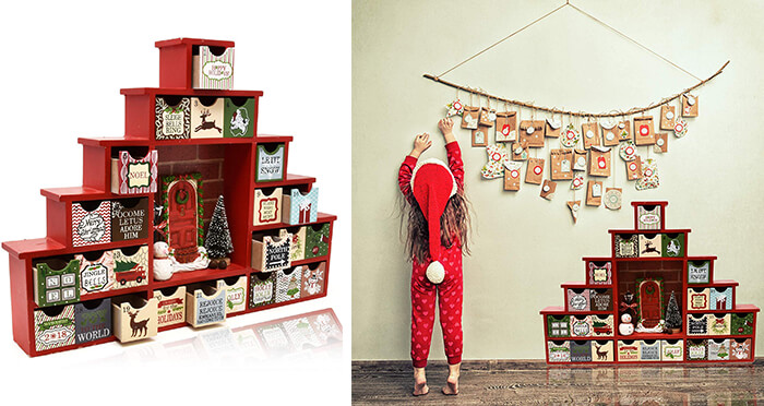 11 Reusable Advent Calendars Allows You Countdown to Christmas in Style