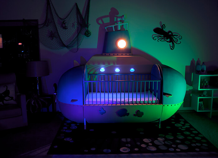 Incredible Handmade Submarine Crib by Rob Adams
