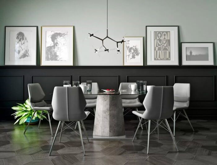 Design ideas for creating a modern luxury dining room