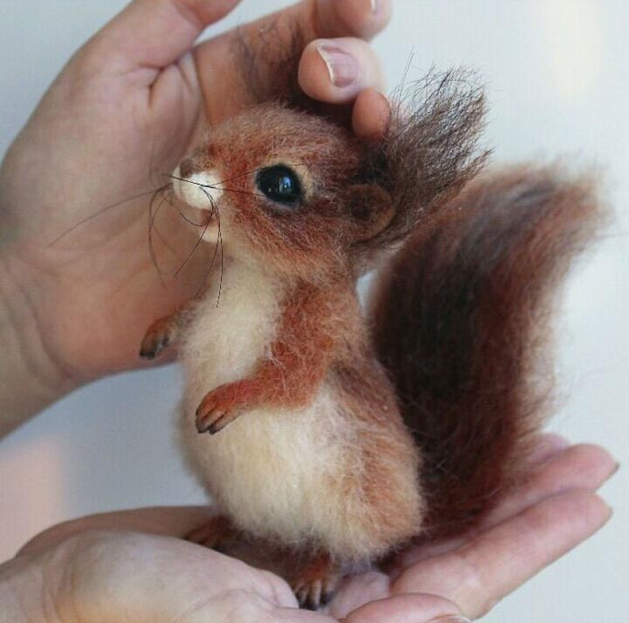 Most Realistic and Adorable Felted Animals by derevschikova