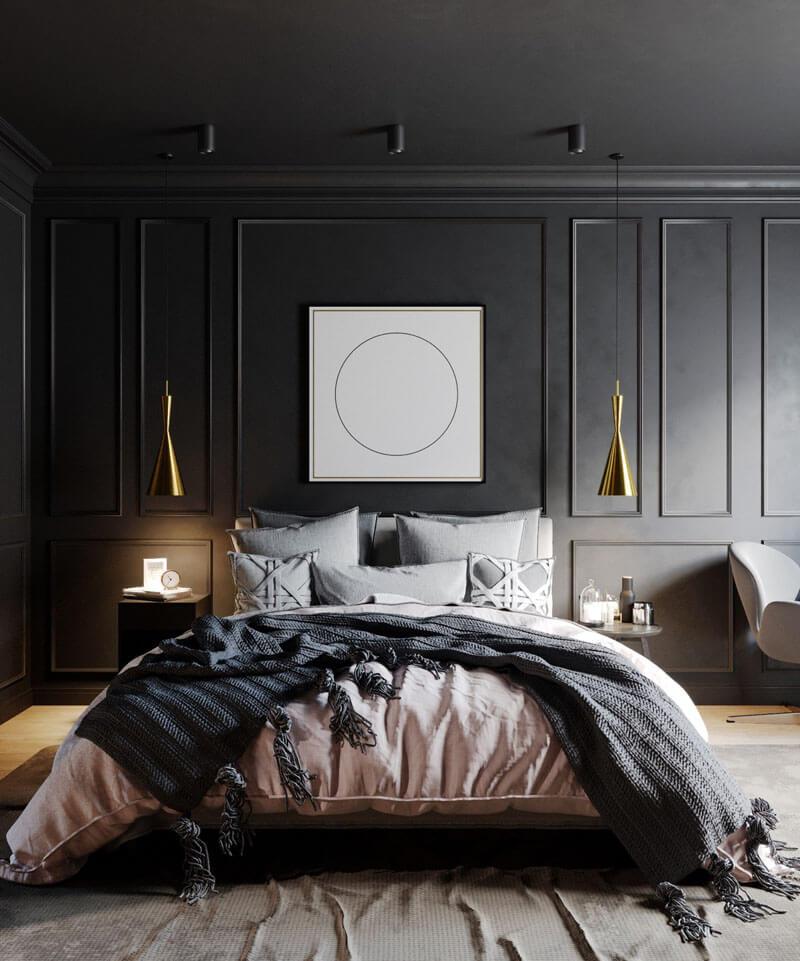 41 Sophisticated Black Themed Bedroom Ideas - Design Swan